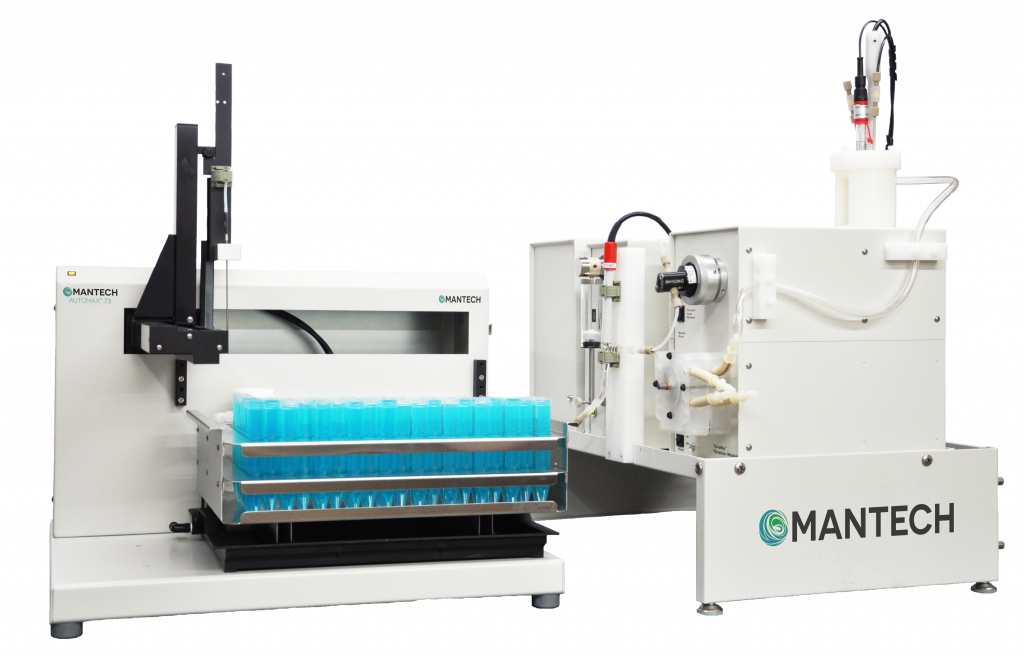 MT-100 system for automated titration analysis