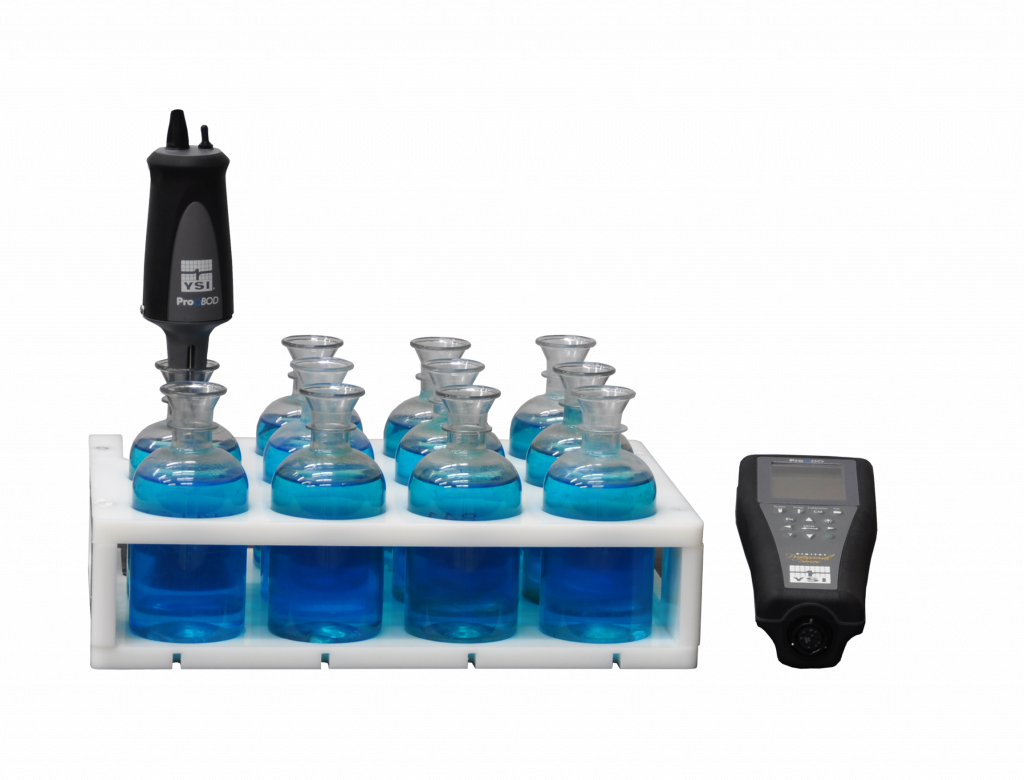 Manual Biochemical Oxygen Demand Analysis. 11 bottles with optical probe.