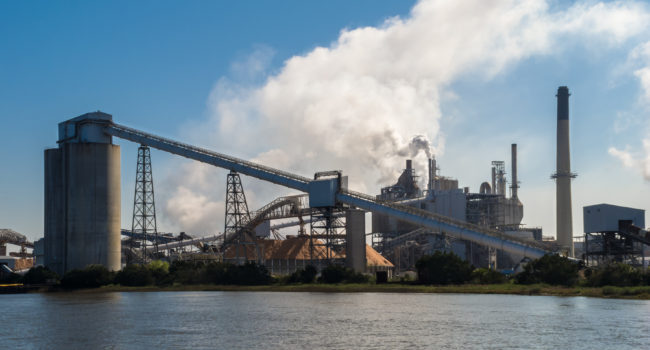 A pulp and paper mill