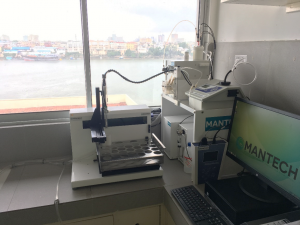 MANTECH MT-100 Multi-Parameter Analysis System in KMFRI Laboratory location, with Mombasa Harbour in the background
